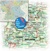 Bacher Orga-Karte Deutschland Süd 1 : 500 000. Poster-Karte beschichtet