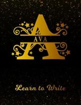Ava Learn to Write