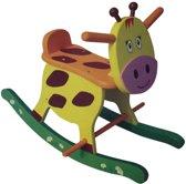 Houten Hobbelfiguur Giraf met rugsteuntje