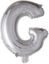 letterballon - 100 cm - zilver - G