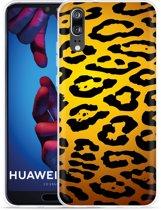 Huawei P20 Hoesje Luipaard Goud Zwart