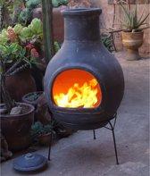 Sol-y-Yo chimenea Mexicaanse tuinhaard Jumbo (grijs, 115 cm)