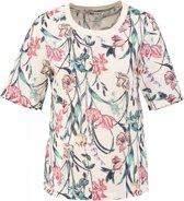 Garcia stevig glad polyester shirt off white - Maat M