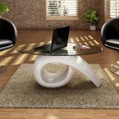 Salontafel Wit (Incl dienblad) glas - woonkamer tafel - decoratie tafel - salon tafel - wandtafel - Koffietafel
