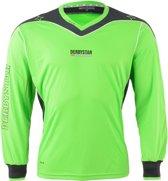 Derbystar Brillant Sportshirt - Maat 116  - Unisex - groen/grijs/wit