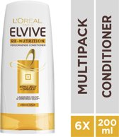 L'Oréal Paris Elvive Re Nutrition Conditioner - 6x200 ml - Voordeelverpakking