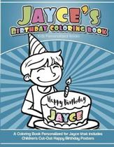 Jayce's Birthday Coloring Book Kids Personalized Books