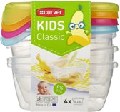 Curver set Kids classic - Vershouddozen - kunststof - multicolour transparant - Fresh & Go - 4 stuks
