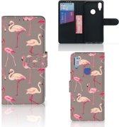 Xiaomi Redmi Note 7 Telefoonhoesje met Pasjes Flamingo