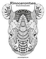 Rinocerontes Libro Para Colorear Para Adultos 1