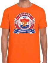 Oranje Holland drinking team t-shirt / t-shirt rwb heren -  Nederland/supporter kleding 2XL