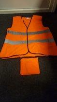 Fluorescerend Oranje Reflecterend Wegenbouw Veiligheidsvest - One size fits all     Veiligheids Vest   Veiligheidshesje   Wegwerkersvest   Werkkleding  Veiligheid   Pech   BHV    5 Stuks aanbieding