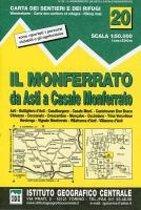 IGC Italien 1 : 50 000 Wanderkarte 20 Il Monferrato
