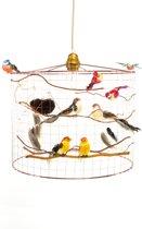 Hanglamp met vogeltjes-Landelijk-Kinderkamer-Speelkamer-Babykamer-Hal-Ø30cm.
