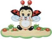 Magneetbord lieveheersbeestje van hout 18,5 x 13,5 cm   Bartolucci
