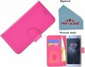 Pealycase Roze Fashion Wallet Bookcase voor Sony Xperia XA2 Ultra Hoesje