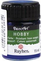 Hobby acrylverf blauw 15 ml
