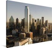 De wolkenkrabbers van Dallas in de Verenigde Staten bij zonsopgang Canvas 180x120 cm - Foto print op Canvas schilderij (Wanddecoratie woonkamer / slaapkamer) XXL / Groot formaat!