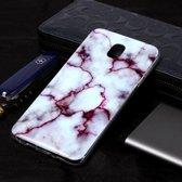 Let op type!! Marmer patroon Soft TPU Case voor Galaxy J8 (2018) (rood)