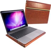 Alston Craig Vintage Leren Werkmap Laptoptas voor Apple Macbook 12 - Bruin