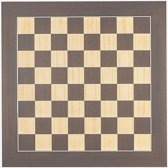 Luxe houten schaakbord wenge en esdoorn 50 cm - veldmaat 50 mm - maat 5