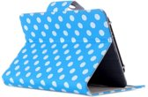 Shop4 - PocketBook Touch Lux 3 Hoes - Book Cover Stippen Blauw