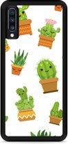 Galaxy A70 Hardcase hoesje Happy Cactus