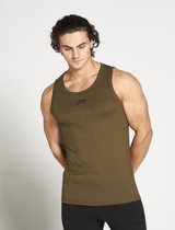Fitness Tanktop Heren Technical Kaki - Pursue Fitness