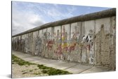 Berlijnse Muur met graffiti erop Aluminium 30x20 cm - klein - Foto print op Aluminium (metaal wanddecoratie)
