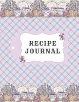 Recipe Journal: Vintage Recipe Notebook To Write In, Blank Cookery Book Organizer For Recipes, Large ( 8.5 x 11)