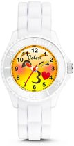 Colori Happy Smile 5 CLK077 Kinderhorloge met Kiss Emoticon - Siliconen Band - Ø 30 mm - Wit