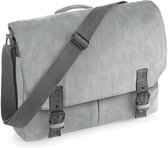 Quadra Vintage Canvas Messenger Grijs