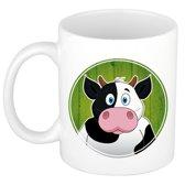 1x Koeien beker / mok - 300 ml keramiek - koe dieren bekers voor kinderen