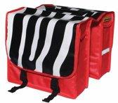 Nietverkeerd Zebra Dubbele Fietstas - 22 l - Multi