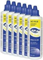 Eye Fresh No Rub 6 x 240 ml - Lenzenvloeistof voor zachte contactlenzen - Voordeelverpakking