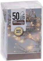 Kerstverlichting op batterij  voor binnen - 50 lampjes - warm wit