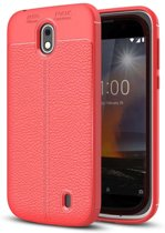 Just in Case Nokia 1 Back Cover Soft TPU rood