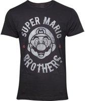 Nintendo Super Mario Heren Tshirt -2XL- Super Mario Biker Zwart
