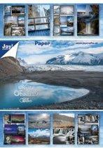 Papierblok 15 x 20 cm, 32 sheets, 8 x 4 designs, magic iceland bloc