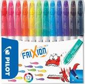Frixion Colors - Pilot Viltstift - 12 Stuks