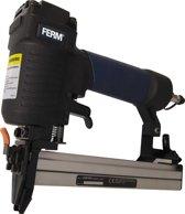 FERM  Pneumatische Tacker  voor nieten van 12 tot 25 mm x 5.8 mm  - incl. 100 nieten en opbergkoffer