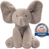 Flappy de Olifant - Kiekeboe - Peek-a-Boo - Hide and Seek -  Deluxe Editie - 30 cm