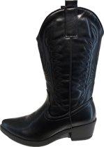 Cowboy laarzen zwart dames A32 laarsjes Maat 38