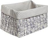 Cosy & Trendy Mand Magic Fabric - 43 cm x 31 cm x 27 cm - Wit-Grijs