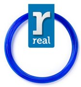 10m High-quality PETG 3D-pen Filament van Real Filament kleur doorzichtig blauw