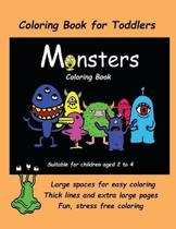 Coloring Book for Toddlers (Monsters Coloring Book)