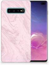Samsung Galaxy S10 Plus TPU Hoesje Marble Pink
