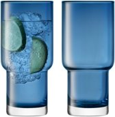 LSA International Utility Drinkglas - 390 ml - Set van 2 Stuks - Blauw