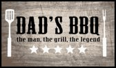 MD-Entree BBQ mat Dad's BBQ the man 67x120 cm