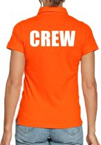 Crew poloshirt oranje voor dames - teamshirt polo t-shirt S
